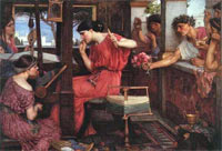 Penelope y los pretendientes . John William Waterhouse 1912